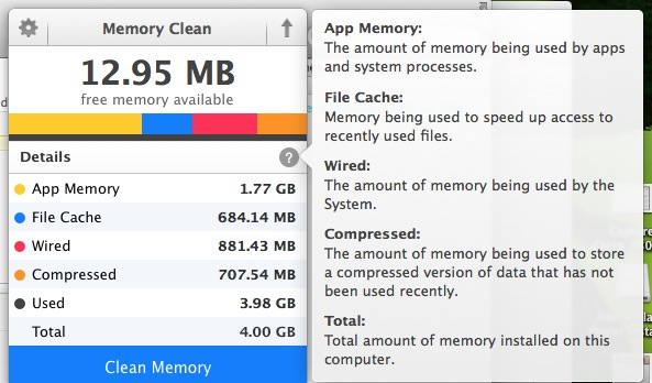 how to clear application memory on mac